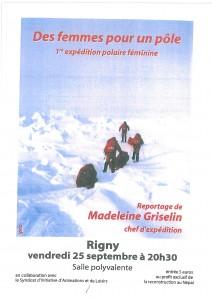 Reportage de Madeleine GRISELIN chef d'expédition