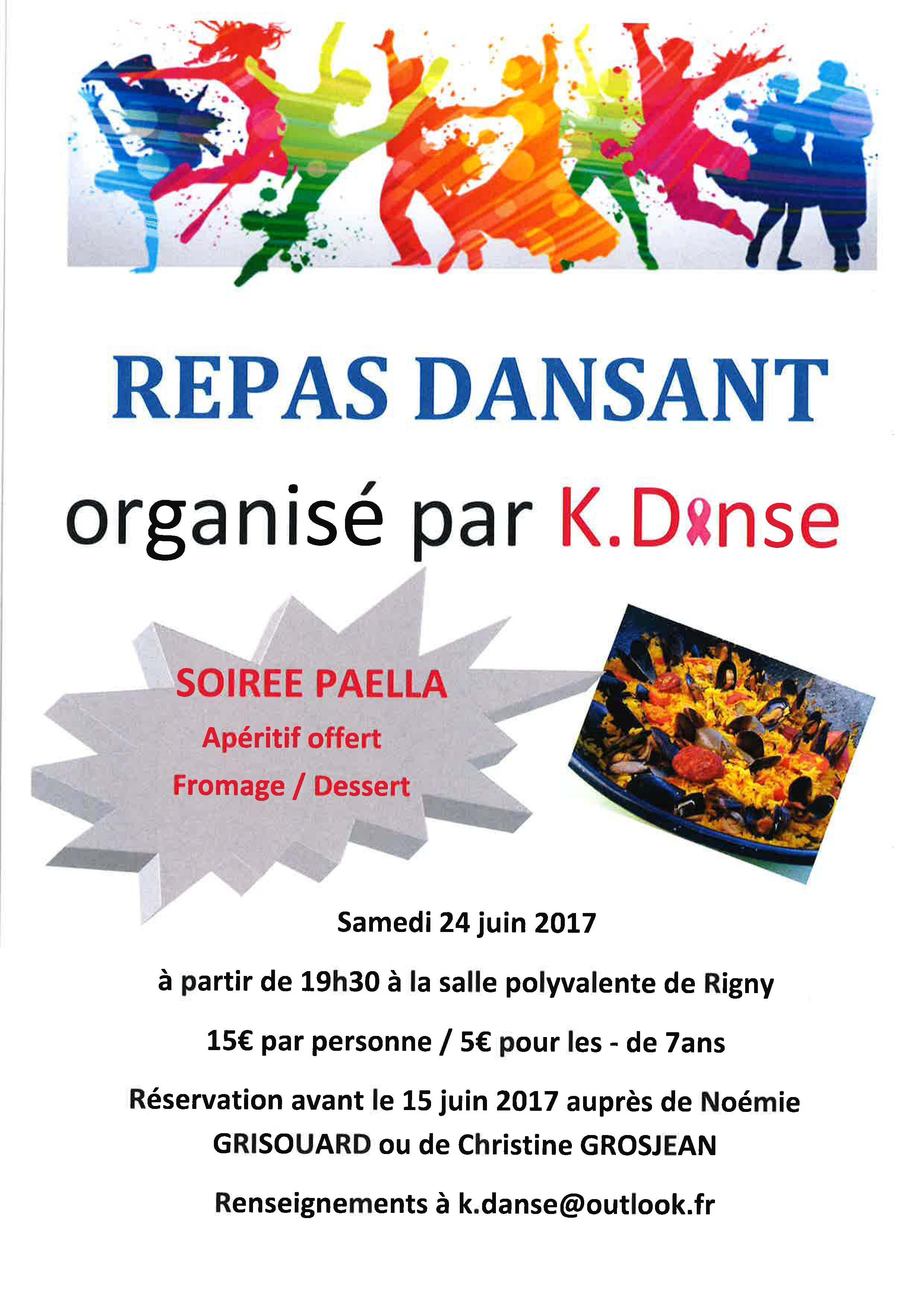 Affiche repas dansant K-DansE
